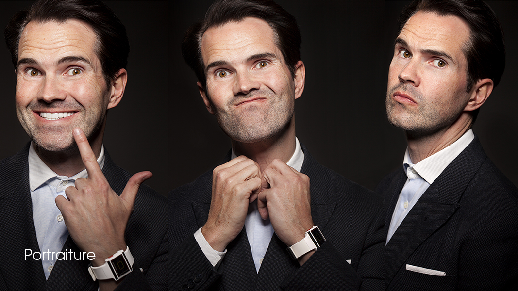 Jimmy Carr comedian triptych portrait photographed by professional photgrapher Andrew Ogilvy photography 10 c
