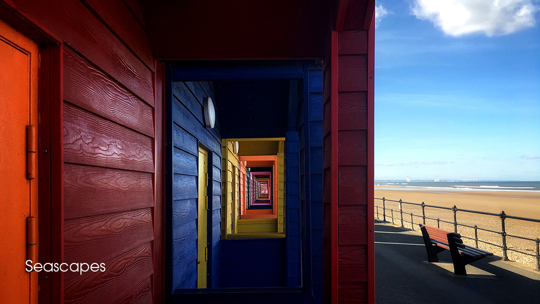 SPUWE6408 Saltburn on Sea Teeside Seascape landscape beach huts by photographer Andrew Ogilvy Photography v4