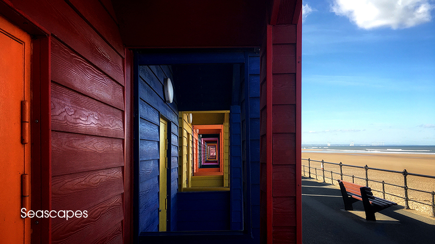 1 SPUWE6408 Saltburn on Sea Teeside Seascape landscape beach huts by photographer Andrew Ogilvy Photography